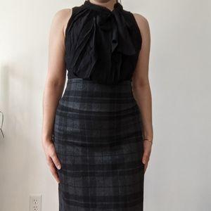 BCBG Max Azria Plaid Silk Dress Small